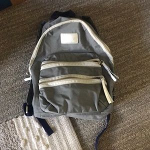 Gray and blue Marc Jacobs backpack